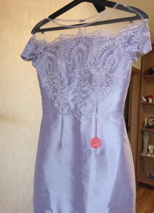 Шикарное нарядное коктейльное платье chi-chi london!распродажа!