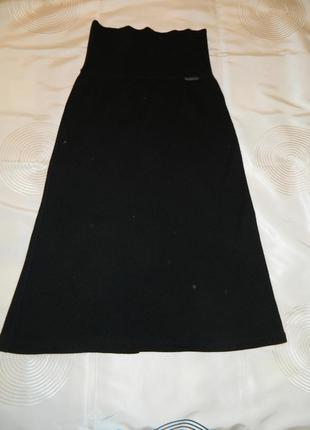 Стильная юбка-сарафан sarah pacini чёрного цвета р.42-44 евро, французский трикотаж