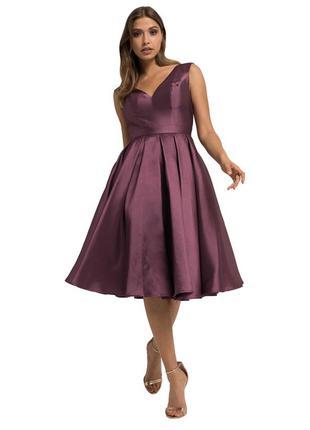 Нарядное коктейльное пышное платье chi-chi london! распродажа!