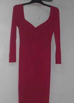 Платье asos миди с вырезом сердечком и открытой спиной, м.