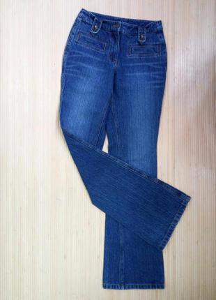 Немецкие синие джинсы клёш qelle1