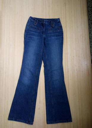 Немецкие синие джинсы клёш qelle2