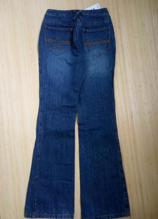 Немецкие синие джинсы клёш qelle3