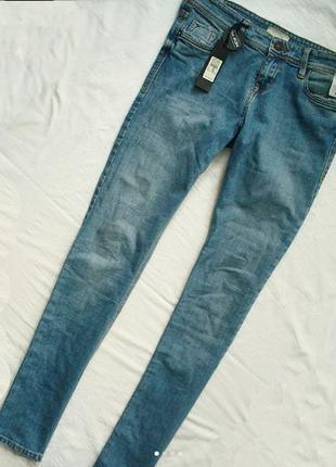 Новые джинсы denim river island  бойфренд средняя посадка голубые деним прямые бойки