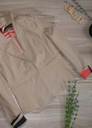 Коттоновый пиджак ( стрейч) размер eur 36/ 38