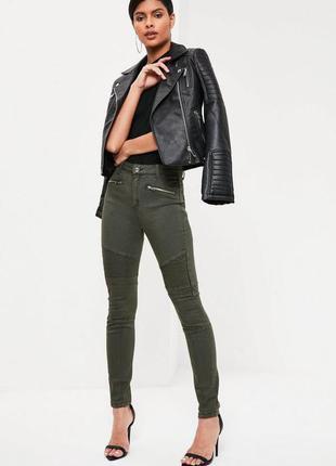 Хаки милитари оливковые джинсы брюки штаны байкерские мото