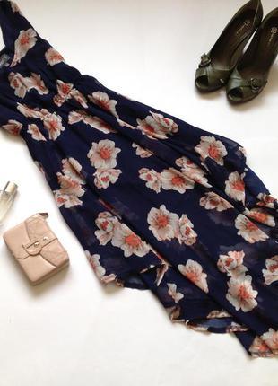 Ассиметричное платье миди с цветочным принтом! смотрите мои объявления!