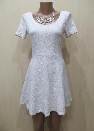 Выбитое белое платье h&m