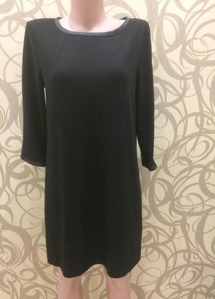 Чёрное платье трапеция h&m