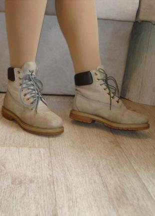 Кожаные ботинки бренд esprit