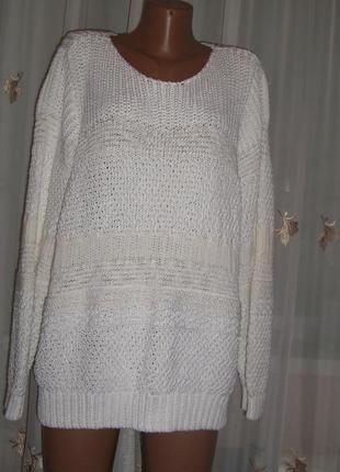 Белоснежный свитер, размер 20