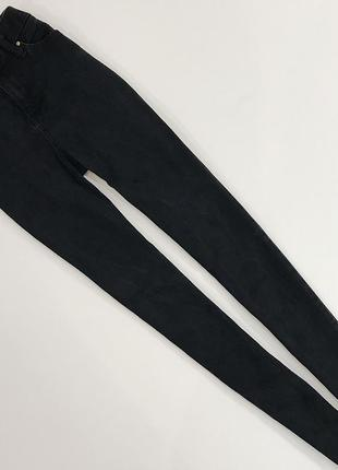 Базовые стрейчевые скинни из плотного джинса с высокой талией от river island