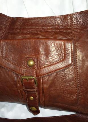 Стильная вместительная сумка натуральная  мраморная кожа next