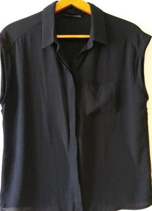 Шифоновая базовая рубашка блуза atmosphere