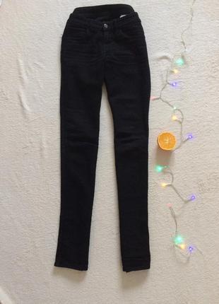 Черные джинсы брюки базовые скинни