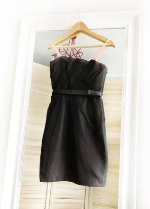 Оригинал marc jacobs xs размер вечернее коктельное платье черное короткое до колен
