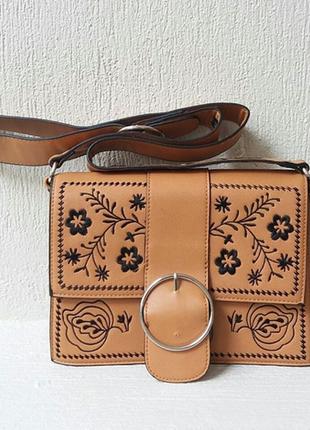 Новая классная сумка через плечо с вышивкой # stradivarius