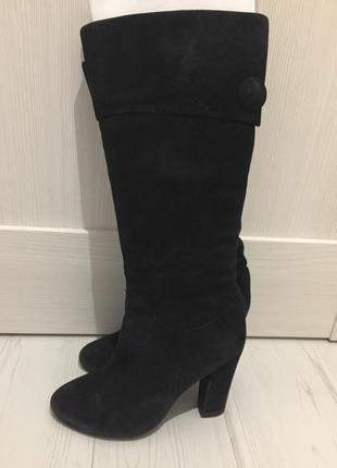 Зимние сапоги на каблуке braska