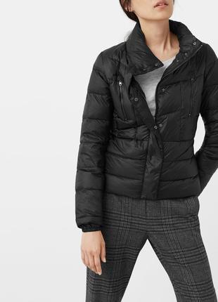 Классная, невесомая куртка, пуховик, деми, mango, р.xs