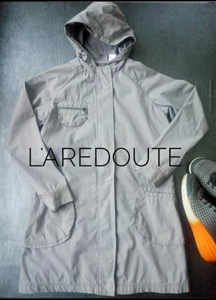 Легкая серая куртка ветровка пальто плащик на теплую весну laredoute размер s