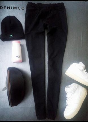 Черные джинсы skinny denimco размер 10/38/м