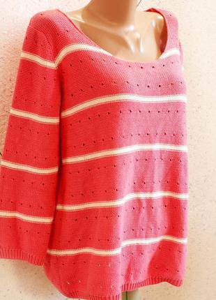 Теплый вязаный уютный свитер размер 18