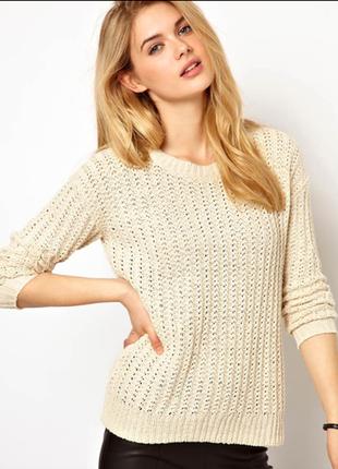 Теплый английской вязки свитер размер 12-14(44-48)