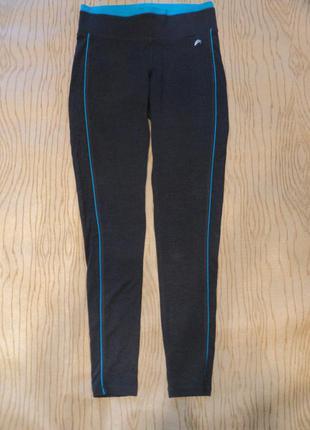 Спортивные леггинсы штаны брюки спорт зала бега серые голубые спорта фитнеса