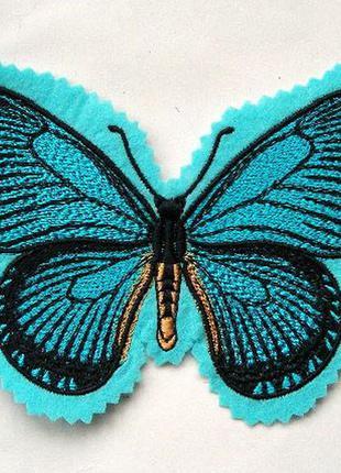 Нашивка на одежду бабочка