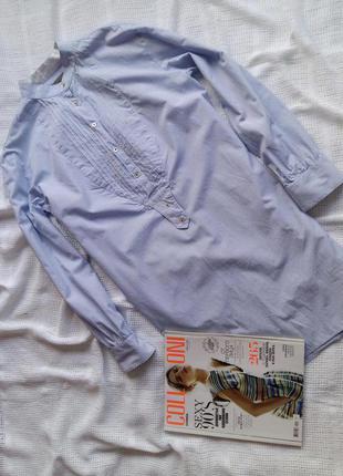 Платье-рубашка zara в полоску