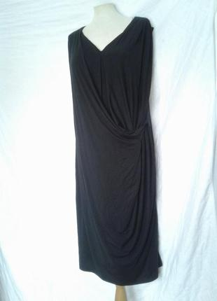Вискозное черное платье, xl- xxl, autograph