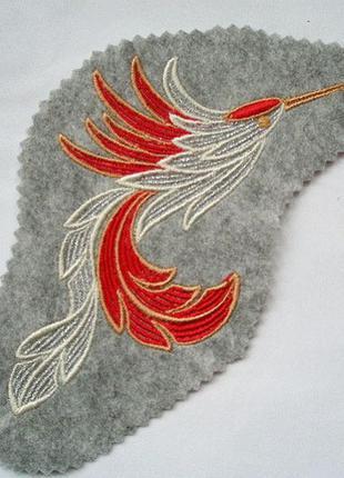 Нашивка на одежду колибри