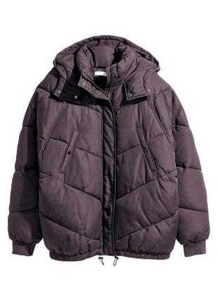 Зимняя куртка h&m фиолетовая