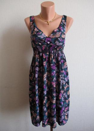 Платье принт бабочки h&m