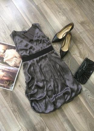 Нарядное серое  платье 💕💕💕
