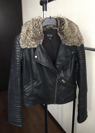 Кожаная куртка topshop