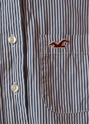 Рубашка  в полоску hollister xs