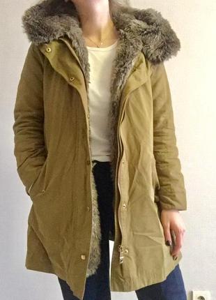 Тепла куртка-парка zara