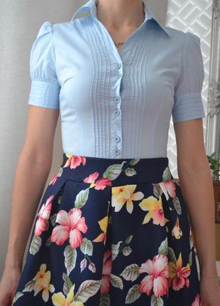 Блузка-боди голубого цвета