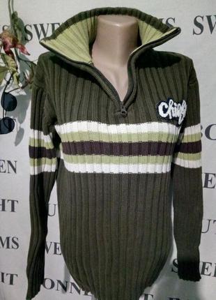 **батал*теплый свитер 100%каттон uk 18 пог-60см 12