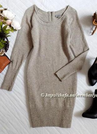 Теплое шерстяное платье gap, размер м (см. замеры)