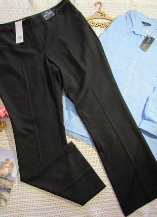 52-54 р черные классические прямые брюки f&f modern  bootcut, вискоза, c карманами💐