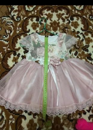 Нарядное платье на девочку на 1 годик или крестины