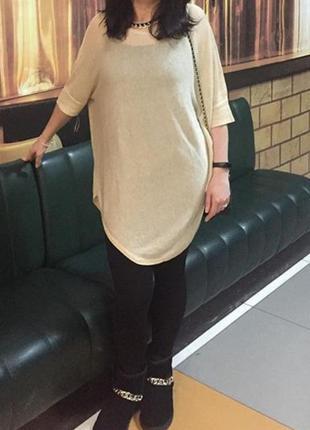Туника платье с люрексом оверсайз