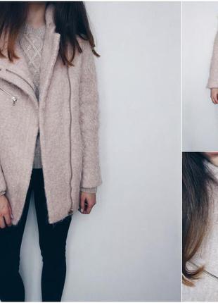 Пальто с шерстью и мохером