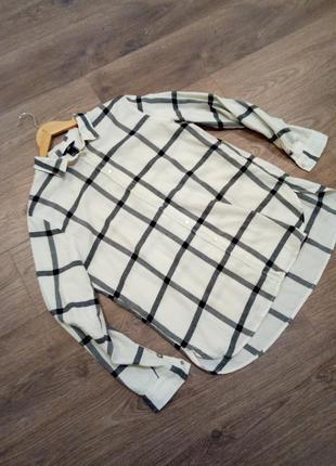Рубашка h&m. натуральная ткань,100% хлопок
