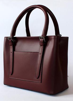 93a01b958a51 Женская итальянская бордовая (марсала) кожаная сумка (натуральная кожа),  италия