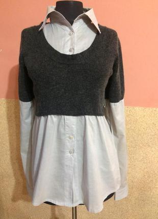 Оригинальная рубашка хлопок+ангора, fullcircles