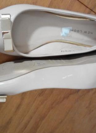 Туфли балетки лаковые