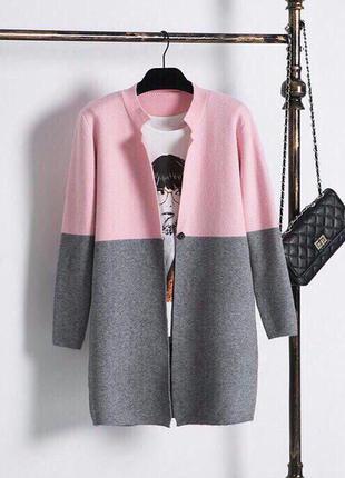 Двухцветный кардиганы-пальто